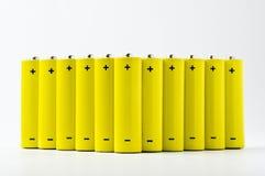 Yellow batteries Stock Image