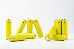 Yellow batteries #2 Royalty Free Stock Photos