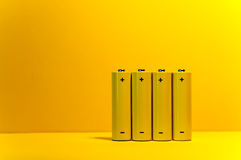 Yellow Batteries Stock Photos