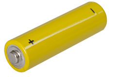 Yellow battery Stock Photos