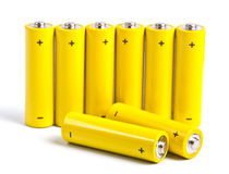 Yellow battery Royalty Free Stock Images