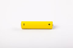 Yellow battery. Do not forget your battery Royalty Free Stock Photo