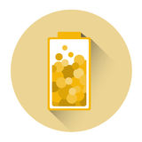 Yellow Battery Half Charge Icon Royalty Free Stock Photography