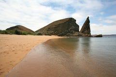 Yellow Beach. In Galapagos Island Royalty Free Stock Photo
