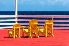 Yellow Beach Adirondack Chair Royalty Free Stock Images
