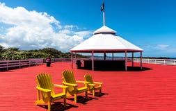 Yellow Beach Adirondack Chair royalty free stock photos
