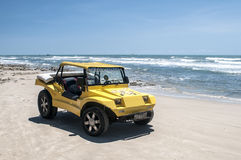 Yellow beach buggy Stock Images