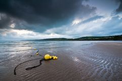 Yellow Beach Buoys Royalty Free Stock Photos