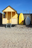Yellow beach hut Stock Images