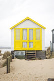 Yellow beach hut Stock Photography