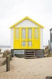 Yellow beach hut Stock Photography