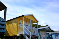 Yellow beach hut Stock Image