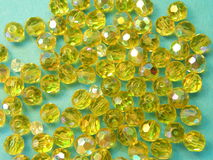 Yellow beads royalty free stock photo