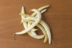 Yellow bean pods Stock Images