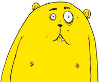 Yellow Bear Cartoon Character Illustration Stock Photography