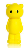 Yellow bear save money box. Royalty Free Stock Photography