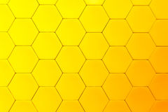 Yellow beautiful honeycomb Stock Images