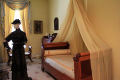 The Yellow Bedroom,Canfield Museum,Saratoga New York,2014 Royalty Free Stock Photo