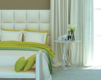 Yellow bedroom Royalty Free Stock Images