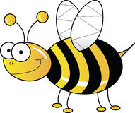 Yellow bee Royalty Free Stock Images