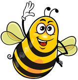 Yellow_bee_01 皇族释放例证