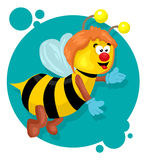 Yellow bee Royalty Free Stock Photos