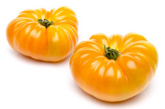 Yellow beefsteak tomatoes Stock Photography
