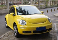 Yellow Beetle Car Royalty Free Stock Image
