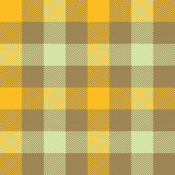 Yellow beige check plaid seamless pattern Royalty Free Stock Image