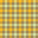 Yellow beige check tablecloth seamless pattern Royalty Free Stock Images