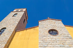 Yellow and beige church Stock Photo