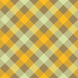 Yellow beige diagonal checkered plaid seamless pattern Royalty Free Stock Photography