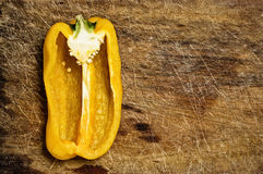 Yellow bell pepper. Royalty Free Stock Photo