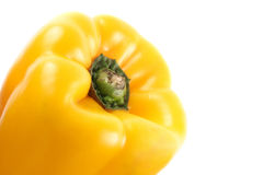 Yellow bell pepper close Royalty Free Stock Photos