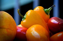 Yellow Bell Pepper in Close Up Photography Stock Images