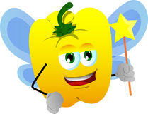 Yellow bell pepper fairy Stock Photography