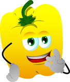 Yellow bell pepper gesturing okay sign Stock Photo