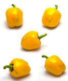 Yellow Bell Pepper. Isolate in white background Royalty Free Stock Image