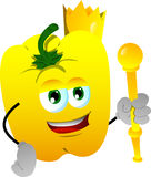 Yellow bell pepper king Stock Images