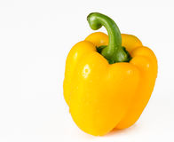 Yellow Bell Pepper Over White Background Royalty Free Stock Image
