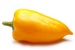 Yellow bell pepper, paths Stock Photos