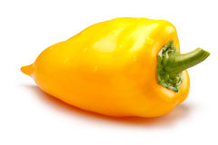 Yellow bell pepper, paths Stock Image