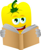 Yellow bell pepper reading Stock Image