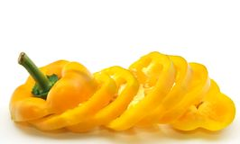 Yellow bell pepper sliced Royalty Free Stock Photography