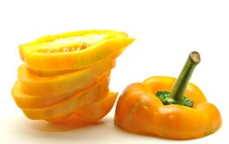 Yellow bell pepper sliced Stock Photography