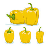 Yellow bell pepper,sweet pepper or capsicum Royalty Free Stock Photography