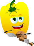 Yellow bell pepper with violin Royalty Free Stock Image