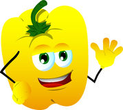 Yellow bell pepper waving Stock Photos