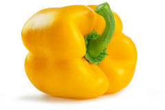 Yellow bell pepper. On white background Stock Images