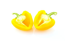 Yellow bell pepper. On white background Stock Image